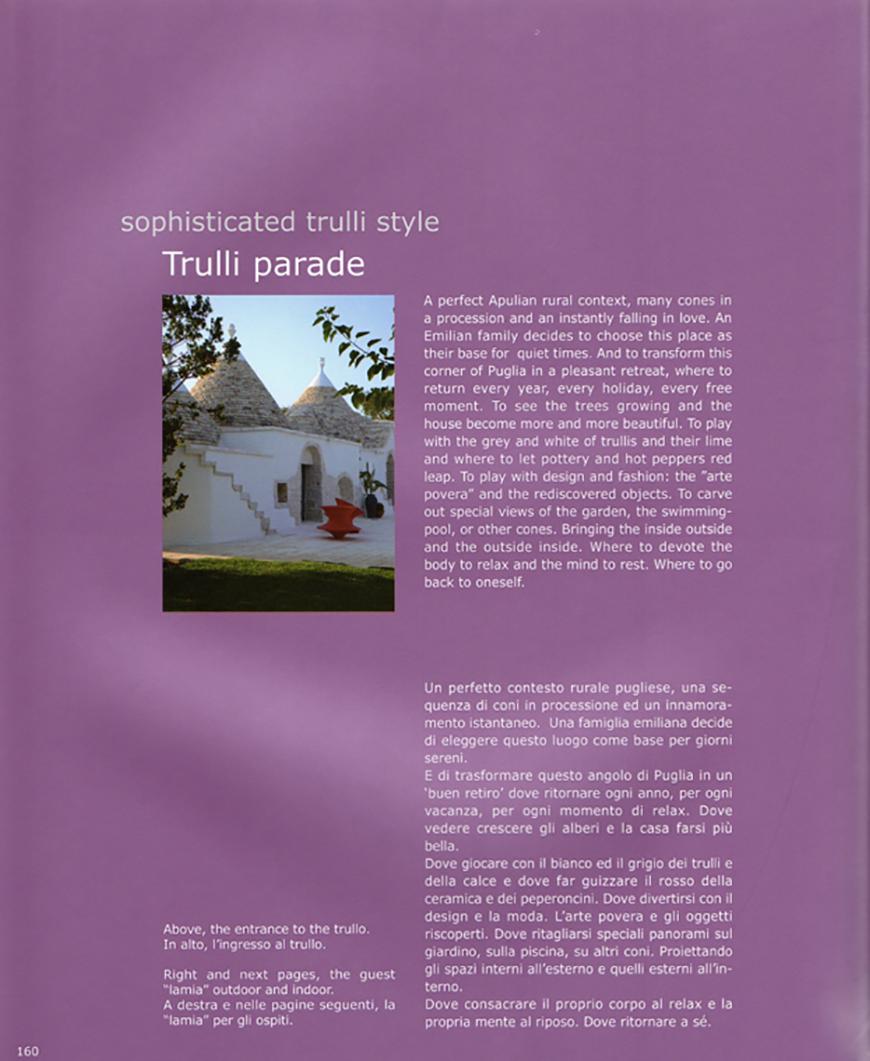 TRULLI style. Trulli parade pp. 160-175, dicembre 2011