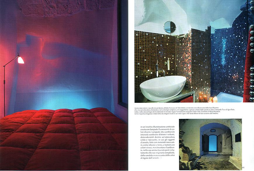 AD - Architectural Digest. Le più belle case del mondo: Vivere bene al mare e in campagna, n° 315, agosto 2007, Lo spazio dell'illusione, pp. 96-101