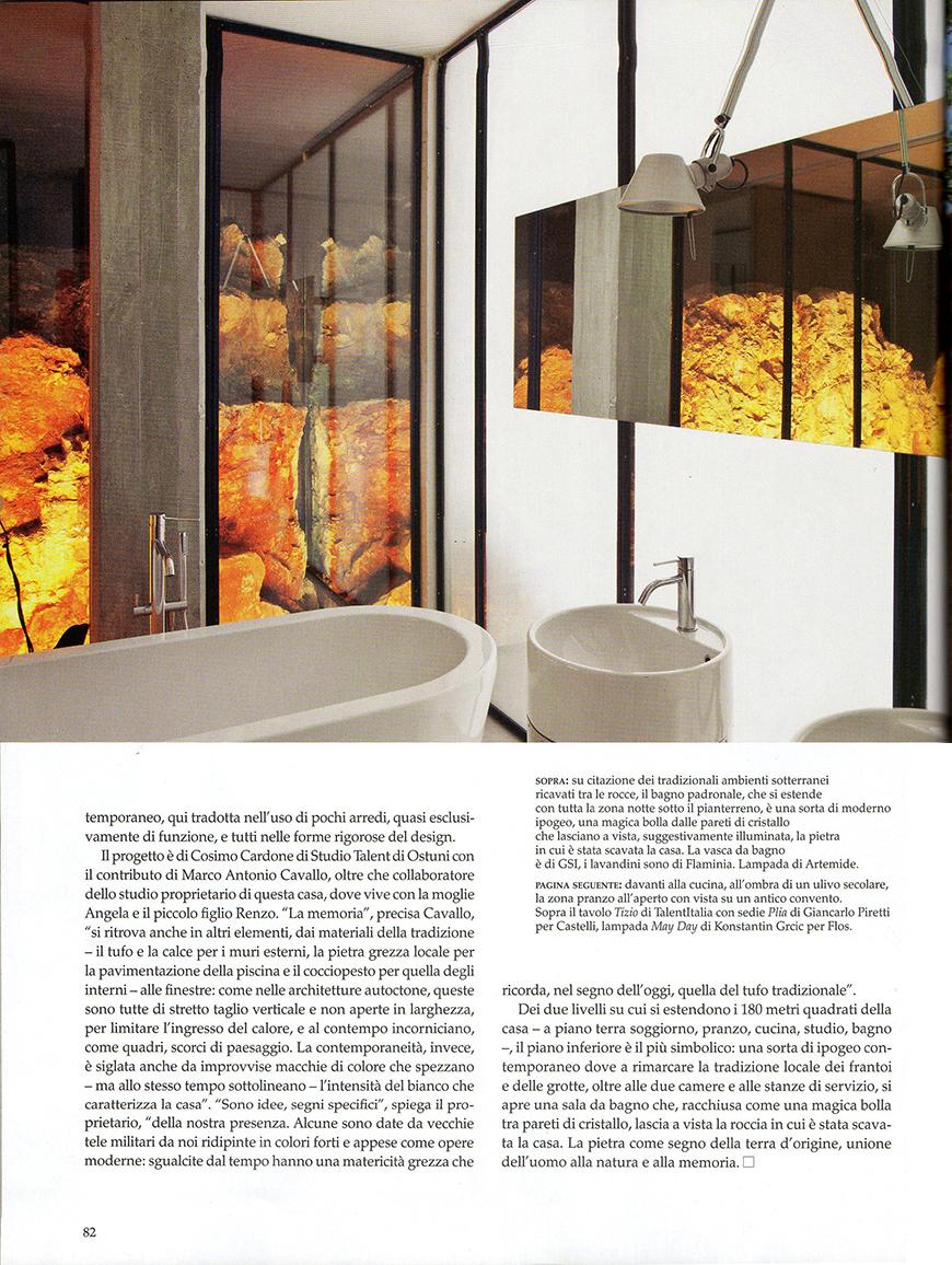 Le più belle case del mondo: Magie del sud, n° 387, Le forme del tempo, pp. 74-83