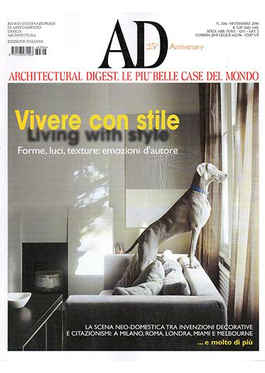 AD - Architectural Digest. Le più belle case del mondo: Vivere con stile, n° 304, settembre 2006, Cuore di pietra, pp. 228-235
