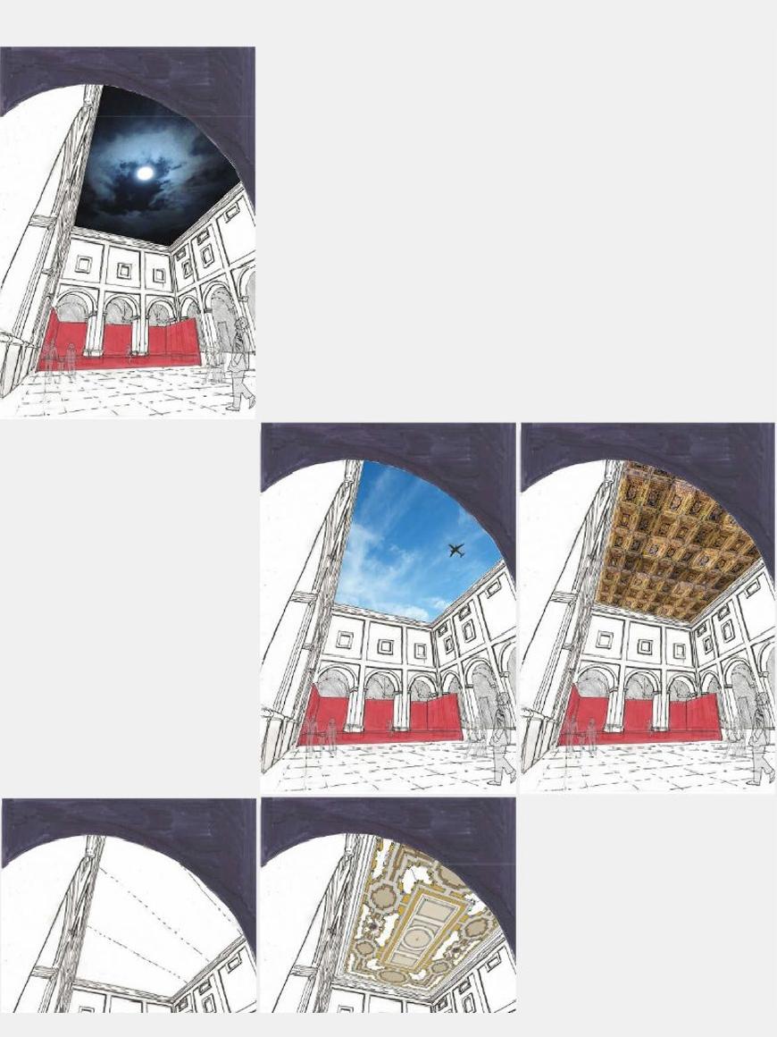 Lo Studio Talent decide di offrire all'Amministrazione Comunale di Ostuni un progetto per utilizzare in modo più efficiente e continuativo lo spazio pubblico all'interno del chiostro di San Francesco.La proposta consiste nel coprire la corte con un telo a scorrimento automatizzato così da garantirne l'utilizzo anche in caso di mal tempo.Il valore aggiunto di questo intervento sta nel poter proiettare sul soffitto del cortile le immagini fisse o in movimento scelte in tema con l'evento in svolgimento.