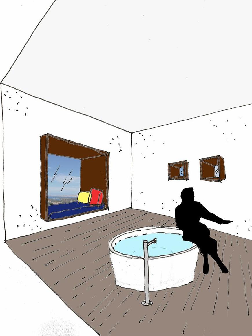 L'intervento a carattere turistico-ricettivo insiste su una superficie di poco più di un ettaro sul rilievo più alto e panoramico del golfo di Porto Cervo. Si tratta di cinque ville di lusso con piscina, un centro SPA e un ristorante comune. Il progetto è caratterizzato dalla presenza di dieci torri in granito locale, collegate da volumi trasparenti orizzontali con finiture in legno. Granito, trasparenza e legno, tutti elementi presi in prestito dalla natura circostante.