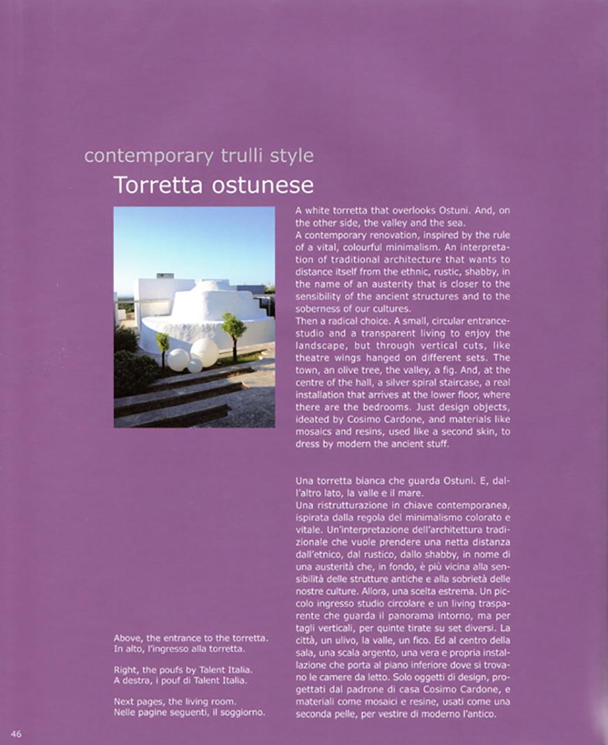 TRULLI style. Torretta ostunese pp.46-59, dicembre 2011