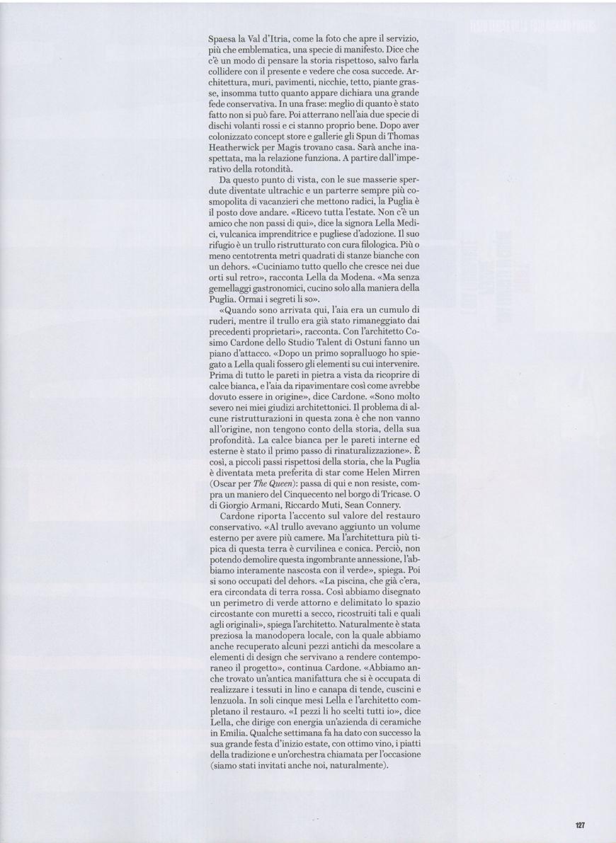 CASE DA ABITARE - Trullo Time, pp. 118-127, Luglio Agosto 2012