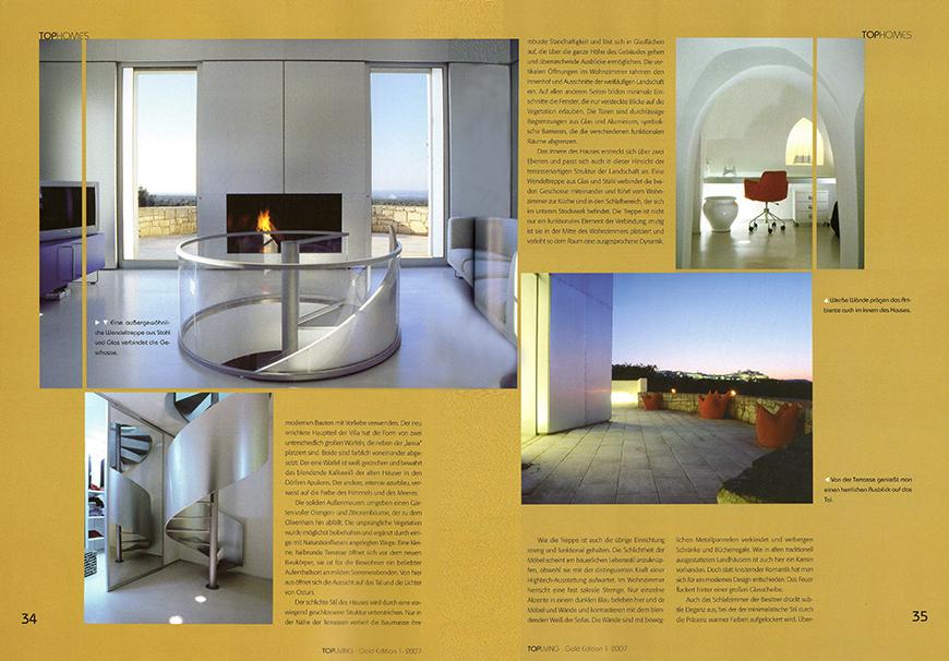 TOPLIVING - Gold Edition 1-07, gennaio 2007, Tophomes: Villa zwischen Mythos und Moderne, pp. 32-36