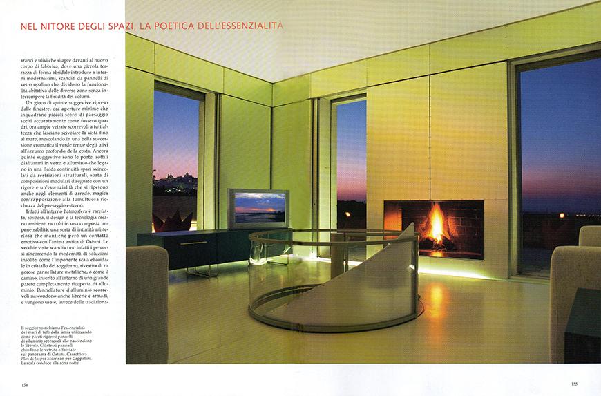 AD - Architectural Digest. Le più belle case del mondo: Fuga dalla Città, n 291, agosto 2005, Il sole del moderno, pp. 152-157