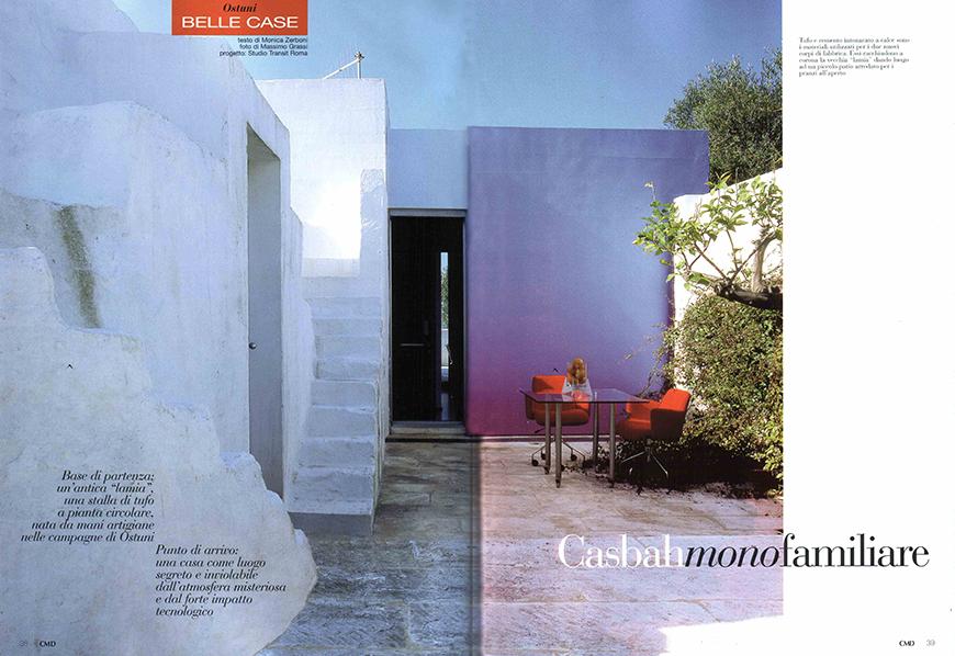CASA MIA DECOR. Magico autunno, n° 144, ottobre/novembre 2008, Passato contemporaneo pp. 100-105, Casbah monofamiliare, pp. 38-45-70