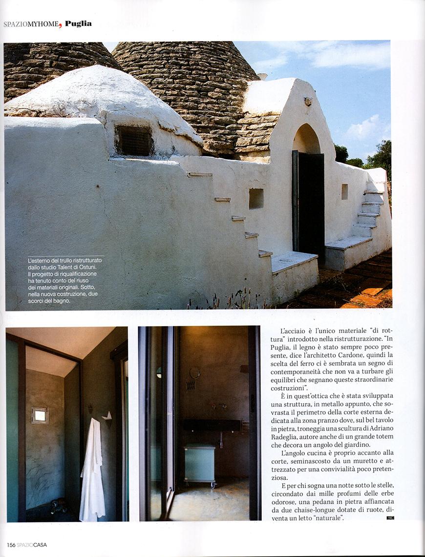 SPAZIOCASA. N° 7, luglio/agosto 2009, Fermare il tempo, pp. 148-157;