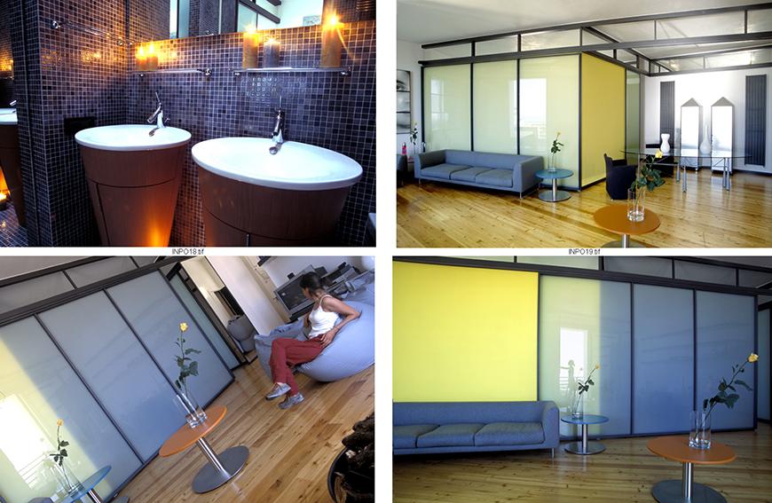 Studio Talent: Un' appartamento degli anni 60 con la sua tipica impostazione strutturale rigida viene ripensato con grande flessibilità degli spazi e libertà espressiva negli arredi e nei colori (con M. Macciocchi).